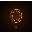 Neon 3D letter O vector image vector image
