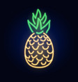 neon pineapple fashion sign night light vector image
