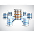 Network database concept vector image vector image