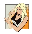 People in retro style Running girl vector image vector image