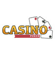 poker play cards casino gambling isolated icon vector image vector image