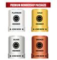 premium membership packages vector image vector image