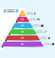 pyramid business infographics origami style vector image vector image
