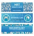 rheumatology and orthopedic medicine banner design vector image vector image