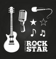 rock star or musician elements set vector image vector image