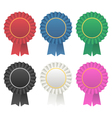 rosette award ribbon medallion vector image