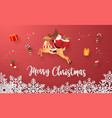 santa claus with christmas gifts vector image vector image