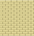 seamless pattern yellow brick vector image