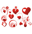 set icon - hearts vector image vector image