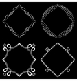 set nice decorative frames vector image