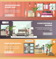 set of hotel horizontal banners in flat vector image vector image