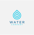 simple modern water drop logo icon template vector image