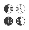 speaking icons people talking with command vector image vector image