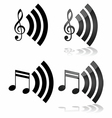 Streaming music vector image