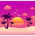 Summer holiday sunset vector image vector image