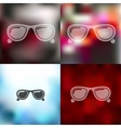 sunglasses icon on blurred background vector image vector image