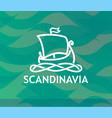 symbol of scandinavia vector image vector image