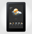 tablet weather vector image vector image