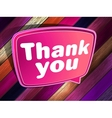 Thank you poster on a wooden EPS 10 vector image vector image