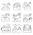 Travel concepts set outline style vector image vector image