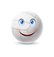 Volleyball ball cartoon character vector image