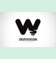 w letter logo design brush paint stroke artistic vector image vector image