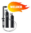 welder symbol for business with tool vector image vector image