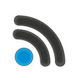 wifi connection isolated icon vector image vector image