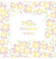 yellow sunny color floral in retro 60s style vector image