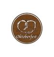 Brown Oktoberfest stamp vector image