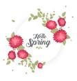 round banner with the hello spring logo card for vector image