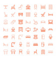 49 furniture icons vector image vector image