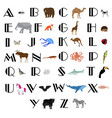 animal alphabet vector image vector image