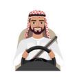 arab man driving a car arab man clothing in vector image vector image