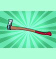 ax woodcutter working tool vector image