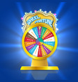 ball of luck 3d object fortune roulette in flat vector image