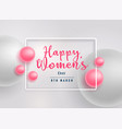 beautiful pink pearls happy womens day background vector image