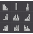 black building icons set vector image vector image