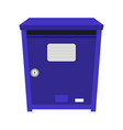blue post box or mailbox icon vector image vector image