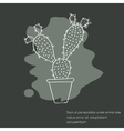 Cactus invitation card vector image vector image