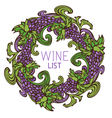 Circle design for wine list