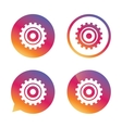 Cog settings sign icon Cogwheel gear symbol vector image vector image