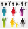 Colorful people icons vector | Price: 1 Credit (USD $1)