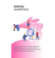 digital marketing website color template vector image vector image