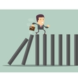 domino effect and problem solving vector image