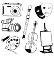 doodle collection of art pictures vector image