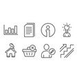 edit user delete purchase and education icons vector image