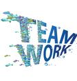 fish teamwork vector image