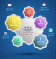 flower group template with icons vector image vector image