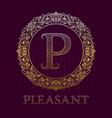 golden logo template for pleasant boutique vector image vector image